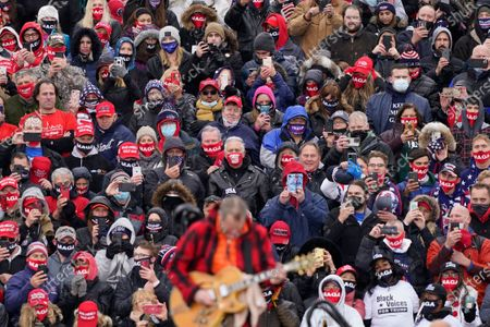 Editorial image of Election 2020 Trump, Lansing, United States - 27 Oct 2020