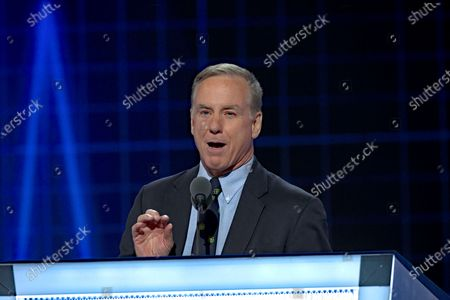 Former Governor of Vermont Howard Dean delivers remarks during the second day of the Democratic National Nominating Convention in the Wells Fargo Center