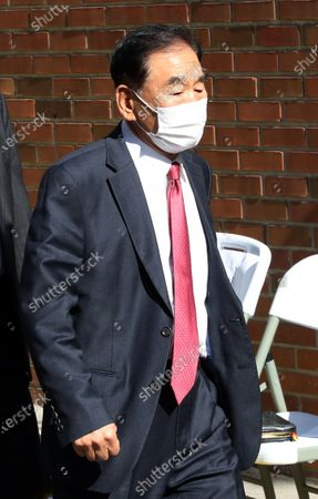 Former lawmaker Lee Jae-oh, a close aide to South Korea's former President Lee Myung-bak, walks into the house of the former president in Seoul, South Korea, 29 October 2020. South Korea's top court upheld a lower court ruling of a 17-year prison term for Lee for embezzlement and bribery.