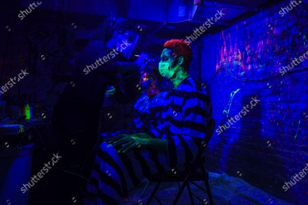 Editorial picture of Blood Manor Haunted Attraction in New York, US - 28 Oct 2020