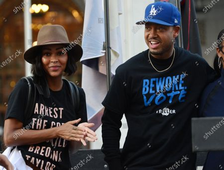 Meagan Good and Terrence J