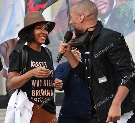 Editorial photo of Black Lives Matter Rally, Los Angeles, CA, USA - 28 Oct 2020