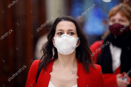 Stock Photo of Leader of Spanish Ciudadanos party, Ines Arrimadas, arrives to the Lower House where MPs are to debate on the State of Alarm, in Madrid, Spain, 29 September 2020. The Parliament is to vote a new extension of the State of Alarm issued by the Central Government in a bid to stop the coronavirus spread.