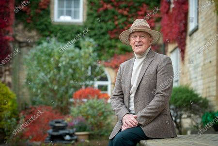 Sir Geoffrey Boycott at home in Boston spafor his 80th birthday (21st October) with a birthday cake sent from the Telegraph