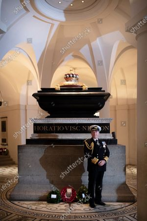 Editorial photo of Nelson's tomb in the Crypt, London, UK - 21 Oct 2020