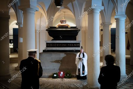 Editorial picture of Nelson's tomb in the Crypt, London, UK - 21 Oct 2020