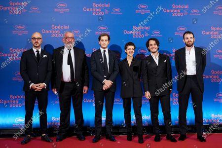 "Stock Image of (L-R) ""Beginning"" film cast and crew members Rati Onelli, Paul Rozenberg, David Zerat, director Dea Kulumbegashvili, Ilan Amouyal and a guest"