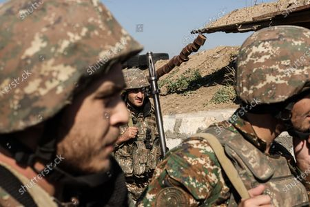 Editorial photo of Third ceasefire broken within minutes in Nagorno-Karabakh, Martakert - 26 Oct 2020
