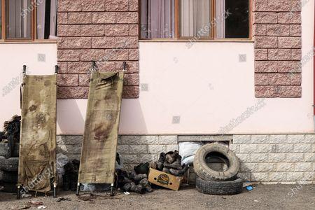 Editorial image of Third ceasefire broken within minutes in Nagorno-Karabakh, Martakert - 26 Oct 2020