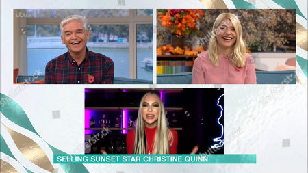 Phillip Schofield, Holly Willoughby, Christine Quinn