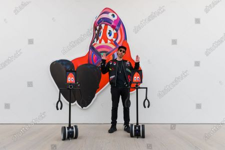 Editorial image of Philip Colbert, 'Lobsteropolis' exhibition at the Saatchi Gallery in London, United Kingdom - 29 Oct 2020