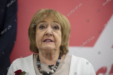 Stock Picture of Dame Margaret Hodge, Parliamentary Chair of Jewish Labour Movement speaks at a press conference on the findings of the The Equality and Human Rights Commission into antisemitism in the Labour Party at the offices of Mischon de Raya in London, Britain, 29 October 2020. According to reports, Jeremy Corbyn has been suspended from the parliamentary Labour party due to pending investigation and comments about antisemitism in the Labour Party.