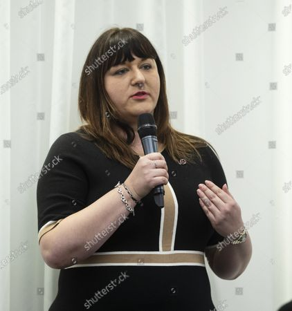 Stock Image of Ruth Smeeth attends Jewish Labour Movement press conference on the findings of the The Equality and Human Rights Commission into antisemitism in the Labour Party at the offices of Mischon de Raya in London, Britain, 29 October 2020. According to reports, Jeremy Corbyn has been suspended from the parliamentary Labour party due to pending investigation and comments about antisemitism in the Labour Party.