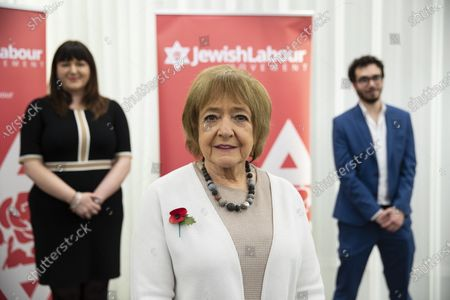 Stock Image of Dame Margaret Hodge, Parliamentary Chair of Jewish Labour Movement speaks at a press conference on the findings of the The Equality and Human Rights Commission into antisemitism in the Labour Party at the offices of Mischon de Raya in London, Britain, 29 October 2020. According to reports, Jeremy Corbyn has been suspended from the parliamentary Labour party due to pending investigation and comments about antisemitism in the Labour Party.