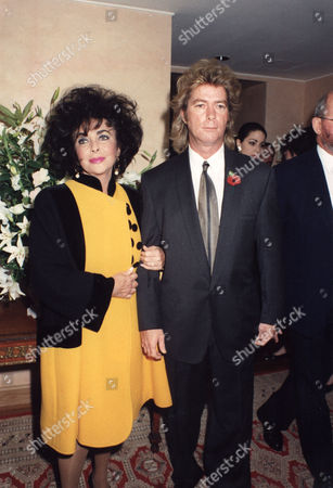 Elizabeth Taylor Pictured With Her Eighth Husband Larry Fortensky.