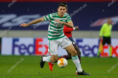 Celtic's Tom Rogic in action during the Europa League Group H soccer match between Lille and Celtic Glasgow at the Stade Pierre Mauroy stadium in Villeneuve d'Ascq, northern France