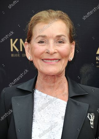 """Judge Judy Sheindlin arrives at the 46th annual Daytime Emmy Awards in Pasadena, Calif., on . Sheindlin, whose long-running syndicated courtroom show """"Judge Judy"""" will end production in 2021, will be dispensing justice on an exclusive show in the U.S. for IMDb TV"""