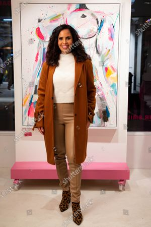 Shanie Ryan arrives at a private preview of viral artist Sophie Tea's Send More Nudes exhibition at her Carnaby gallery, London.