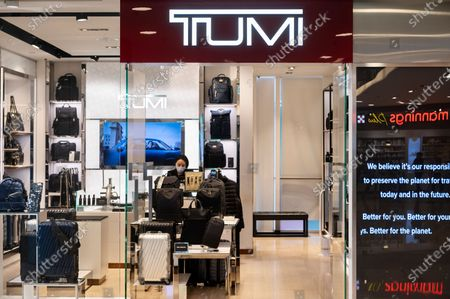 America high-end suitcases and travel bags manufacturer and brand Tumi store seen in Hong Kong.