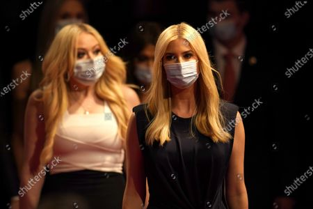 Ivanka Trump, right, and Tiffany Trump arrive prior to the second and final presidential debate between Republican candidate President Donald Trump and Democratic presidential candidate former Vice President Joe Biden, at Belmont University in Nashville, Tenn., with