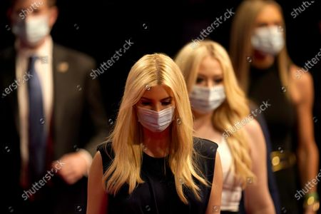 Ivanka Trump, left, and Tiffany Trump arrive prior to the second and final presidential debate between Republican candidate President Donald Trump and Democratic presidential candidate former Vice President Joe Biden, at Belmont University in Nashville, Tenn., with
