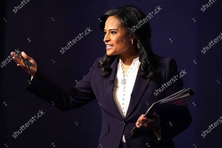 Stock Image of Moderator Kristen Welker of NBC News arrives prior to the second and final presidential debate between Republican candidate President Donald Trump and Democratic presidential candidate former Vice President Joe Biden, at Belmont University in Nashville, Tenn., with