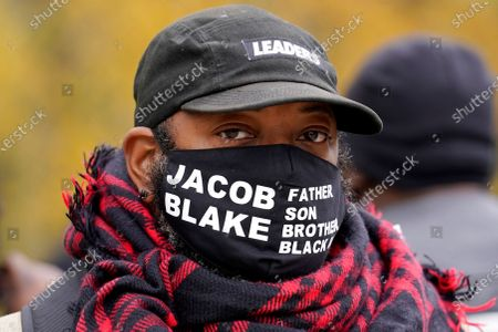 Jacob Blake Sr. attends a Get Out The Vote rally in Chicago, . The families of Breonna Taylor, George Floyd, Alvin Cole and Jacob Blake encouraged residents to vote
