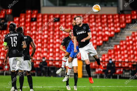 Sverrir Ingi Ingason of Paok during UEFA Europa League, football match played between Granada Futbol Club and Paok FC at Los Carmenes Stadium on October 29, 2020 in Granada, Spain.