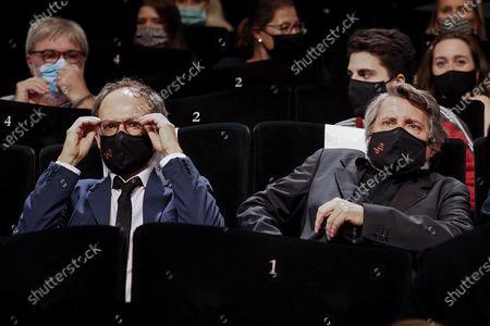 "Denis Podalydes and Bruno Podalydes attend the Best Short Film Palme D'Or Award Ceremony of the ""Special Cannes 2020 : Le Festival Revient Sur La Croisette !"" as part of the Cannes Film Festival at Palais des Festivals"
