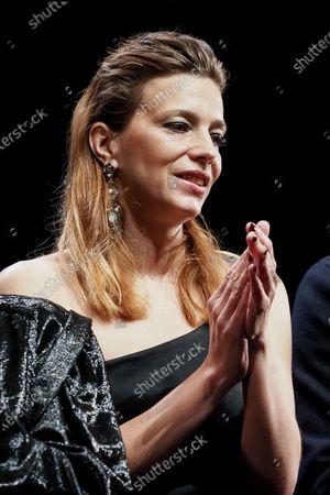 "Stock Picture of Jury member Celine Sallette attends the Best Short Film Palme D'Or Award Ceremony of the ""Special Cannes 2020 : Le Festival Revient Sur La Croisette !"" as part of the Cannes Film Festival at Palais des Festivals"