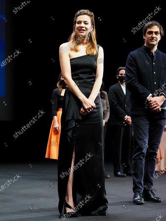"Stock Image of Jury member Celine Sallette attends the Best Short Film Palme D'Or Award Ceremony of the ""Special Cannes 2020 : Le Festival Revient Sur La Croisette !"" as part of the Cannes Film Festival at Palais des Festivals"