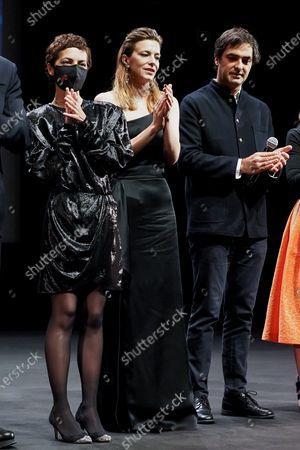 """Jury members Charles Gillibert, Celine Sallette and Dea Kulumbegashvili attend the Best Short Film Palme D'Or Award Ceremony of the """"Special Cannes 2020 : Le Festival Revient Sur La Croisette !"""" as part of the Cannes Film Festival at Palais des Festivals"""