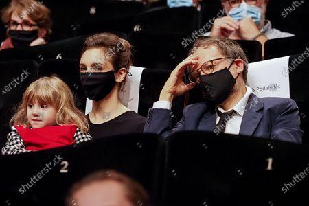 """Stock Picture of Lesli Menu and Denis Podalydes attend the Best Short Film Palme D'Or Award Ceremony of the """"Special Cannes 2020 : Le Festival Revient Sur La Croisette !"""" as part of the Cannes Film Festival at Palais des Festivals"""