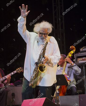 Stock Photo of Sonny Rollins, his last performance in public at Detroit Jazz Festival on August 31st, 2012.