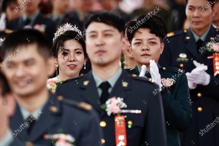 Editorial picture of Military mass wedding with two LGBT couples in Taiwan, Taoyuan - 30 Oct 2020