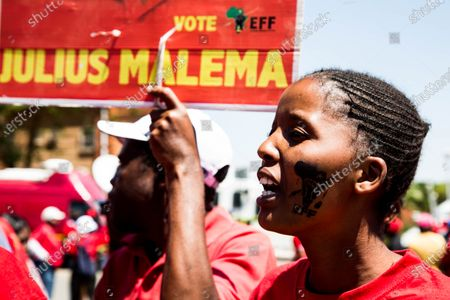 Julius Malema supporters gather outside Randburg Magistrate Court. Court postpones Julius Malema and the party's MP Mbuyiseni Ndlozi assault case to March 2021.