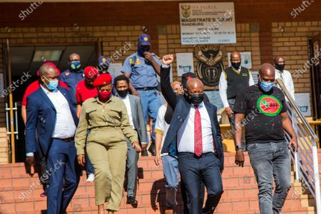 Stock Picture of Julius Malema and the party's MP Mbuyiseni Ndlozi leave the Randburg magistrate court.  Court postpones Julius Malema and the party's MP Mbuyiseni Ndlozi  assault case to March 2021.