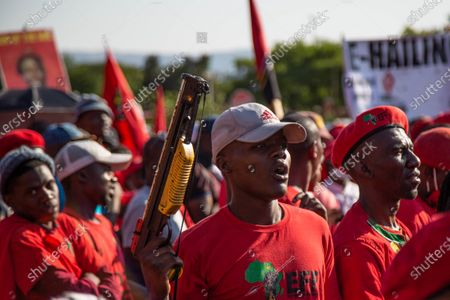 Editorial image of Court postpones Julius Malema and the party's MP Mbuyiseni Ndlozi assault case in Johannesburg, South Africa - 29 Oct 2020
