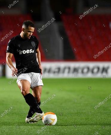 PAOK FC player Rodrigo Alves seen in action during the Europa League match between Granada CF and PAOK FC at Nuevo los Carmenes Stadium in Granada. (Final score; Granada CF 0:0 PAOK)