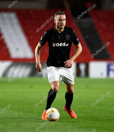 PAOK FC player Sverrir Ingi Ingason seen in action during the Europa League match between Granada CF and PAOK FC at Nuevo los Carmenes Stadium in Granada. (Final score; Granada CF 0:0 PAOK)