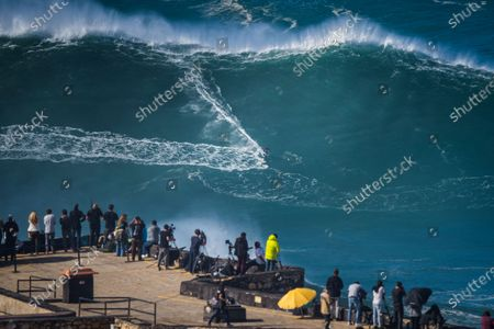 Editorial photo of Big wave Surfing in Nazare, Portugal - 29 Oct 2020