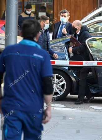 Spanis former home affairs minister Jorge Fernandez Diaz (R) arrives for his trial at the National Court in Madrid, Spain, 30 October 2020. Martinez is accused in the 'Kitchen' case, an allegedly illegal spying operation against the former Popular Party treasurer Luis Barcenas.