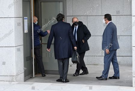Stock Photo of Spanis former home affairs minister Jorge Fernandez Diaz (C) arrives for his trial at the National Court in Madrid, Spain, 30 October 2020. Martinez is accused in the 'Kitchen' case, an allegedly illegal spying operation against the former Popular Party treasurer Luis Barcenas.