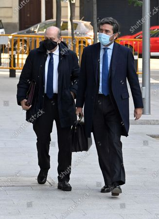 Stock Picture of Spanis former home affairs minister Jorge Fernandez Diaz (L) arrives for his trial at the National Court in Madrid, Spain, 30 October 2020. Martinez is accused in the 'Kitchen' case, an allegedly illegal spying operation against the former Popular Party treasurer Luis Barcenas.