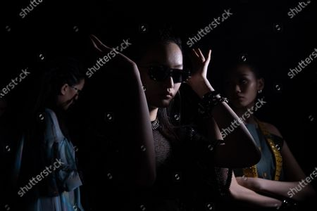 Models wait backstage before the show CHEN.1988 by Long Chen during the China Fashion Week in Beijing, China, 30 October 2020. The fashion event runs from 24 October to 01 November 2020.