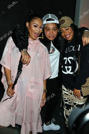 Foto stock a tema Pretty Vee, Young M.A & B. Simone attend Queen Naija's album release and listening party at The Gathering Spot