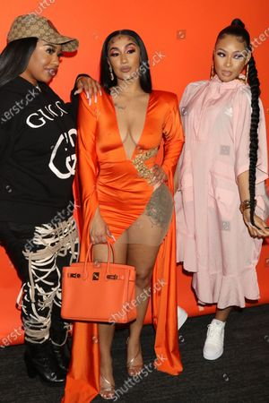 B. Simone, Queen Naija & Pretty Vee attend Queen Naija's album release and listening party at The Gathering Spot