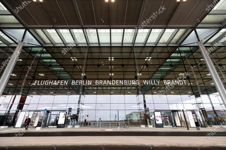 An exterior view shows the Terminal 1 of upcoming the BER Berlin Brandenburg Airport in Schoenefeld, Germany, 30 October 2020. The opening of BER airport is scheduled for 31 October 2020.