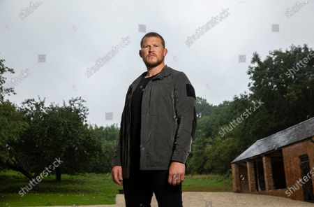 Editorial picture of Dylan Hartley photoshoot, Northamptonshire, UK - 19 Aug 2020