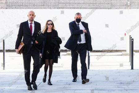 Former FIFA secretary general Jerome Valcke (R) arrives for the pronouncement of the judgement at the Federal Criminal Court of Bellinzona, Switzerland, 30 October 2020. Valcke is accused of taking bribes, falsification of documents, and aggravated criminal mismanagement.